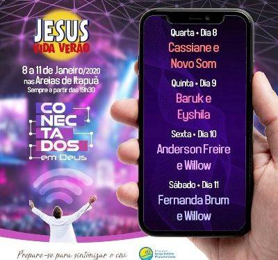 Veja programação do Festival Jesus Vida Verão 2020